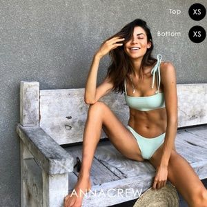 Anna Swim Madelyn Mint Bandeau Bikini Top